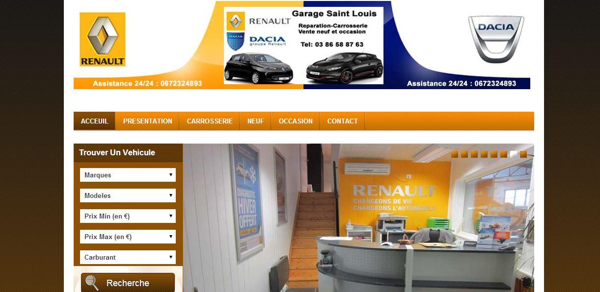 Site Vente Voiture Garage Renault